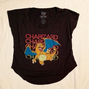 Mighty Fine Pokemon Charizard Shirt Size M
